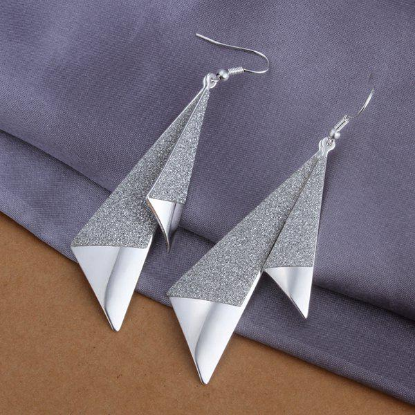 Pair of Alloy Triangle Earrings -