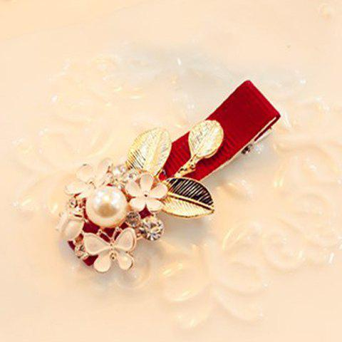 Chic Faux Pearl Embellished Flower Shape Women's Hairpin  (ONE PIECE) - COLOR ASSORTED