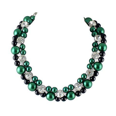 Attractive Beads Embellished Women's Necklace - AS THE PICTURE