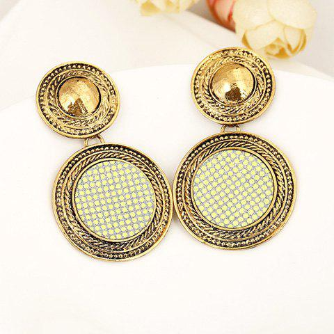 Pair of Dazzling Round Shape Women's Earrings - COLOR ASSORTED