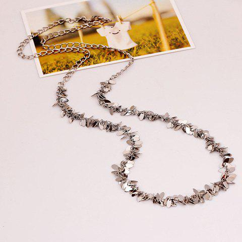 Chic Sequins Embellished Sweater Chain Necklace For Women