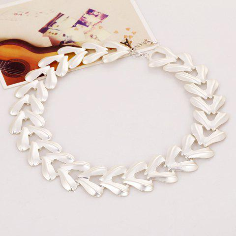 Chic Stylish Women's Triangle Solid Color Necklace - SILVER