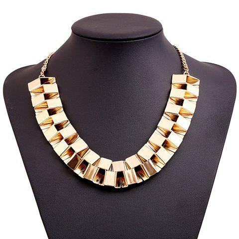Delicate Women's Solid Color Geometric Necklace -  GOLDEN