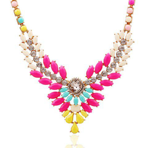 Attractive Candy Color Special Shape Embellished Women's Necklace