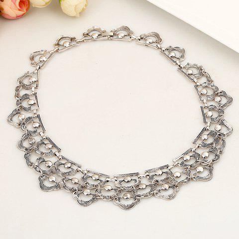 Sparkling Solid Color Special Shape Women's Necklace - SILVER