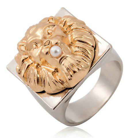 Attractive Solid Color Special Shape Ring For Women - GOLDEN ONE-SIZE