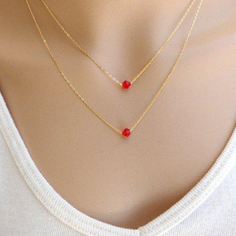 Charming Solid Color Pendant Multi-Layered Necklace For Women - AS THE PICTURE
