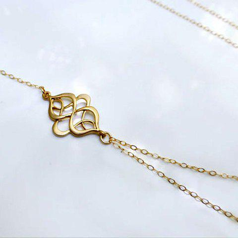 Charming Solid Color Special Shape Multi-Layered Women's Necklace - AS THE PICTURE