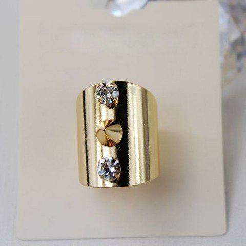 Punk Style Solid Color Rivet Embellished Women's Ring - COLORMIX ONE-SIZE