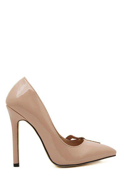 Elegant Pointed Toe and Rivets Design Women's Pumps - APRICOT 35