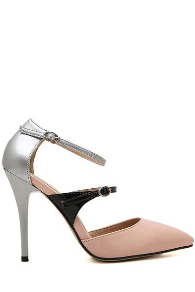 Gorgeous Sexy High Heel and Color Block Design Women's Pumps - PINK 37