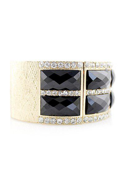 Candy Color Geometric Splicing Elastic Bracelet - BLACK