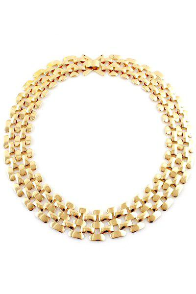 Chain Design Openwork Necklace - GOLDEN