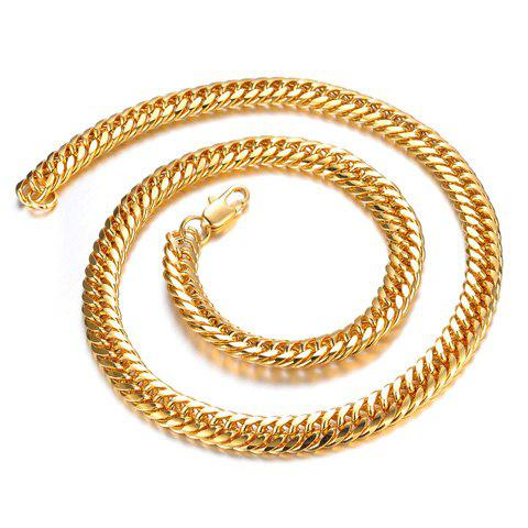 Fashion Golden Link Chain Design Necklace For Men - AS THE PICTURE