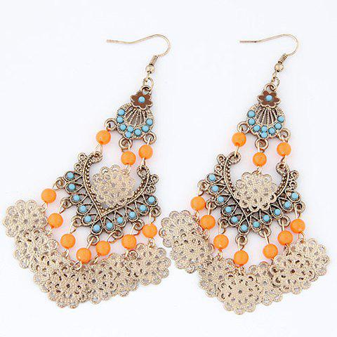 Pair of Flower Drop Earrings - COLOR ASSORTED