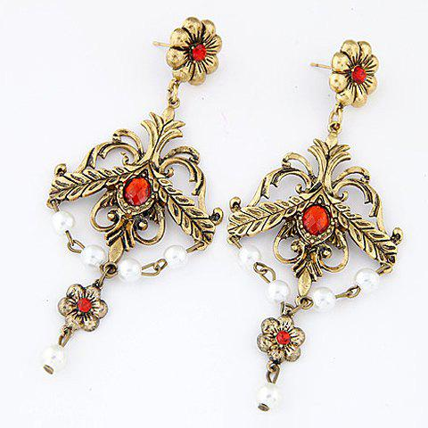 Pair of Retro Style Special Shape Women's Earrings - COLORMIX