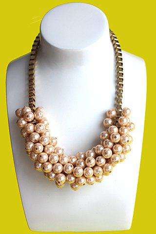 Delicate Gorgeous Women's Faux Pearl Pendant Design Necklace - AS THE PICTURE