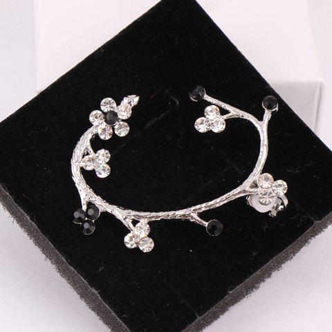 ONE PIECE Simple Stylish Women's Rhinestone Flower Design Earring - COLOR ASSORTED