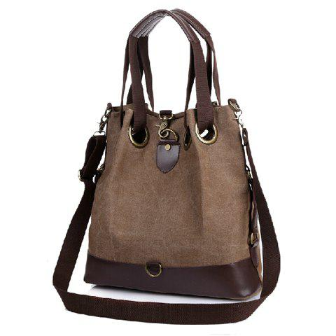 Casual Style Canvas and Splice Design Shoulder Bag For Women