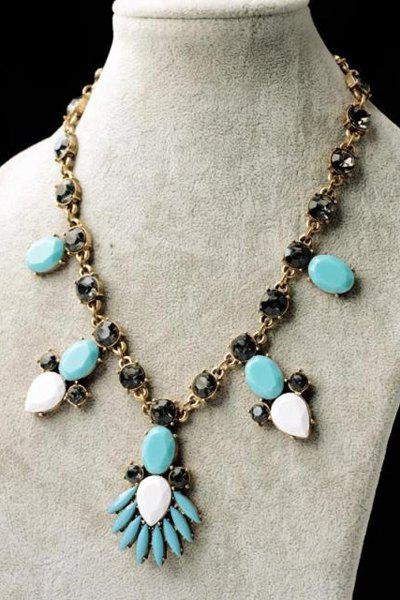 Faux Gem Pendant Necklace от Dresslily.com INT