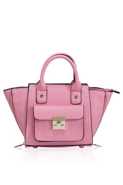 Stylish Rivets and Hasp Design Women's Tote Bag - PINK