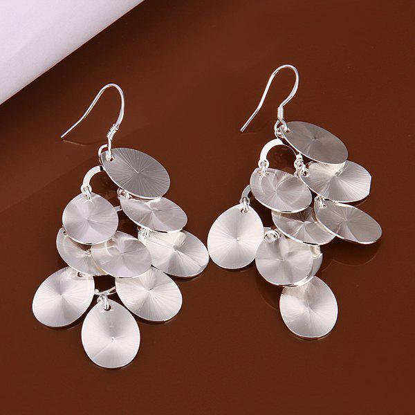 Pair of Alloy Grape Cluster Earrings -