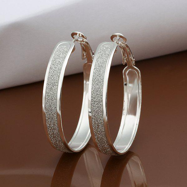 A Pair Of Casual Frosted Surface Earrings -