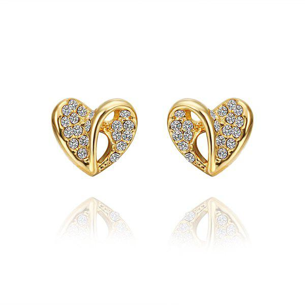 Pair Of Women's Stylish Heart Shape Stud Earrings