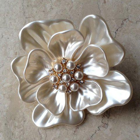 Graceful Women's Shell Embellished Flower Shape Brooch Pins