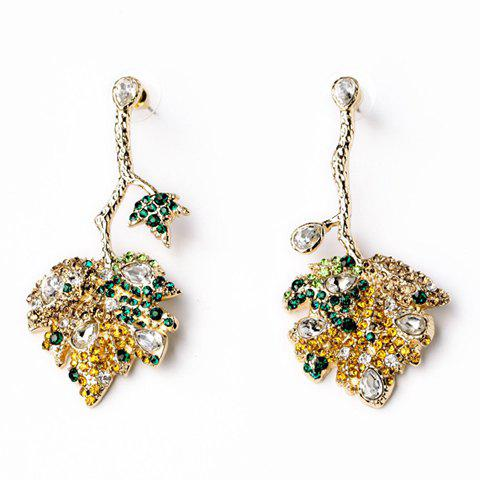 Pair of Gorgeous Rhinestone Embellished Irregular Shape Earrings For Women - COLORMIX