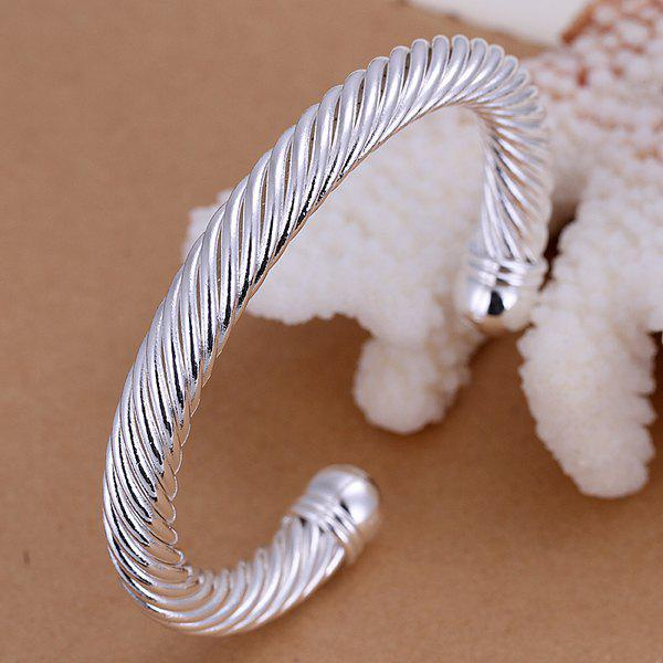 Noble Twist Style Bracelet For Men -  DIAMETER 6CM WIDE 0.8CM
