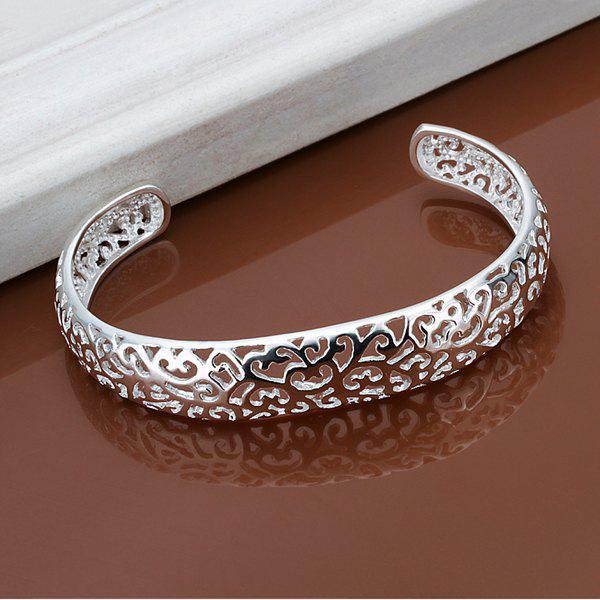 Alloy Hollow Out Cuff Bracelet -  DIAMETER 6CM WIDE 1.3CM