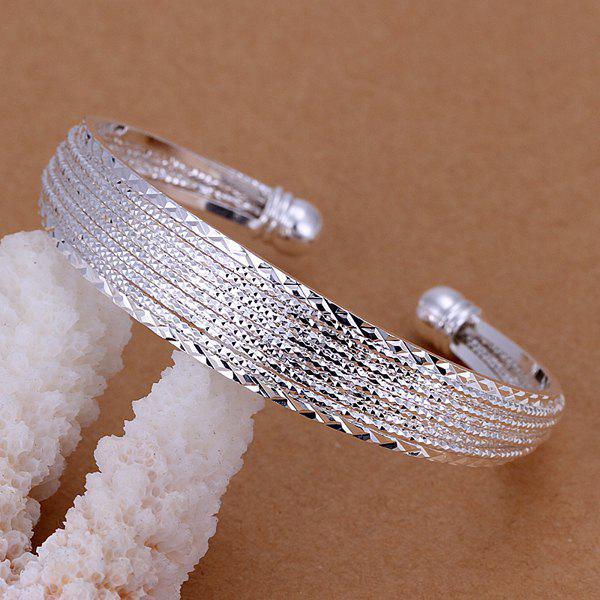Alloy Decorative Design Cuff Bracelet -  DIAMETER 6CM WIDE 1.3CM