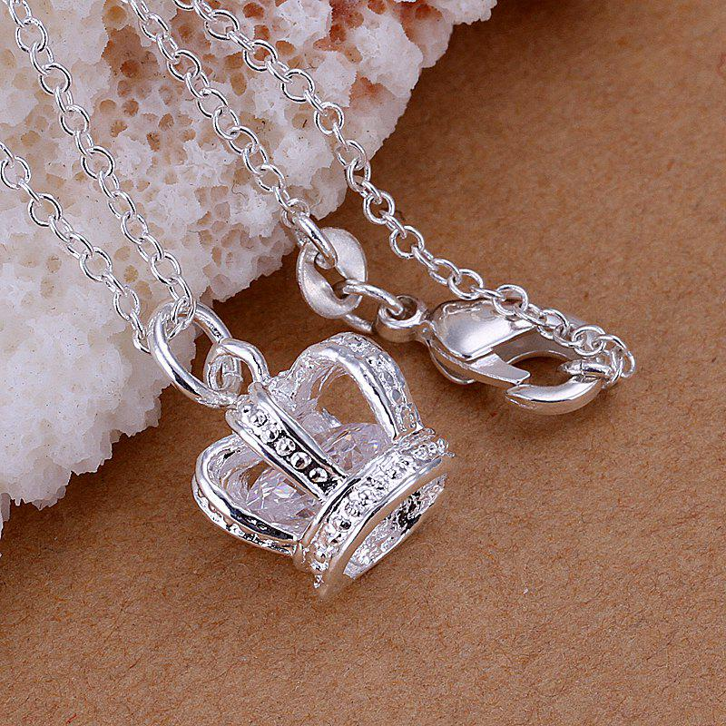 Stylish Crown Silver Plated Pendant