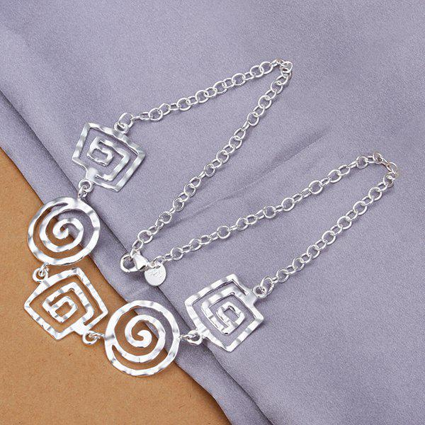 Stylish Paisley Silver Plated Necklace