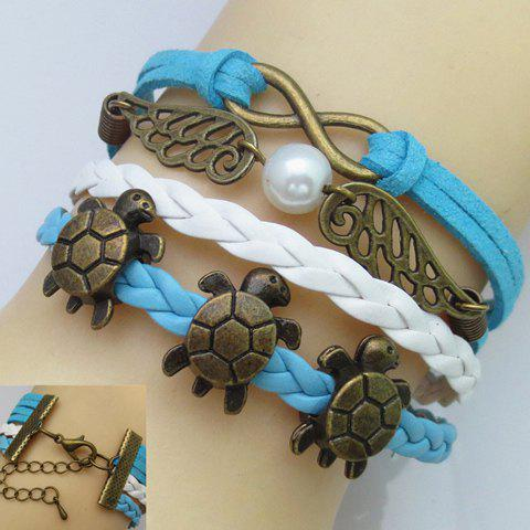 Infinity Wing Tortoise Multilayer Friendship Bracelet - BLUE