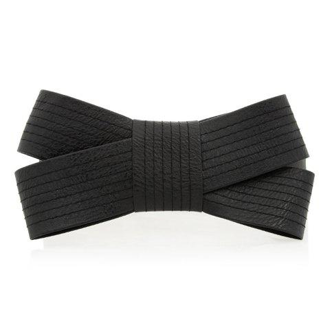 Chic Big Bowknot Decorated Candy Color Women's Elastic Waistband -  BLACK