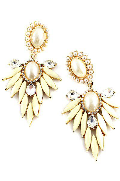 Pair of Faux Gem Special Shape Earring - AS THE PICTURE