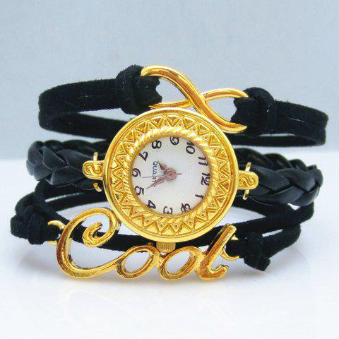 Infinity Letter Friendship Bracelet Watch - BLACK