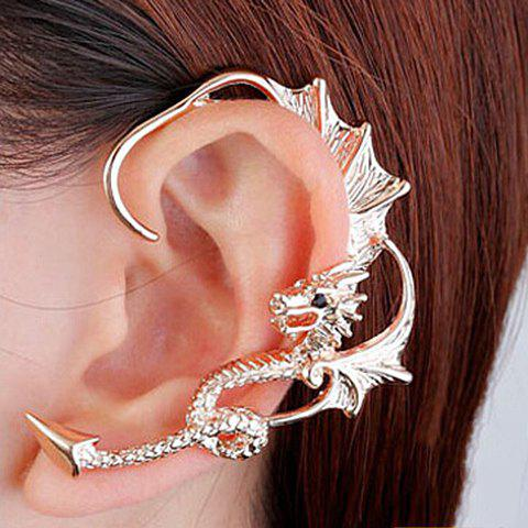 ONE PIECE Rhinestone Dragon Earring - GOLDEN