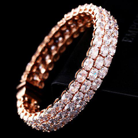 Sweet Cute Women's Rhinestone Colored Bracelet - WHITE