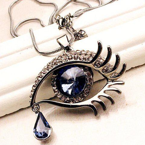 Fashion Chic Women's Rhinestone Eye Shape Pendant Necklace - AS THE PICTURE