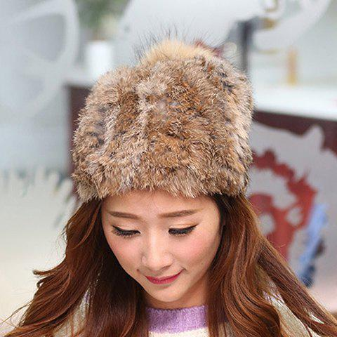 Stylish Fuzzy Ball Embellished Downy Hat For Women stylish downy ball embellished solid color knitted bucket hat for women