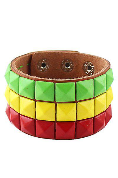 Candy Color Leather Bracelet