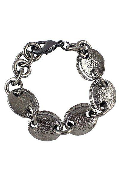 Ellipse Shape Bracelet - GUN METAL