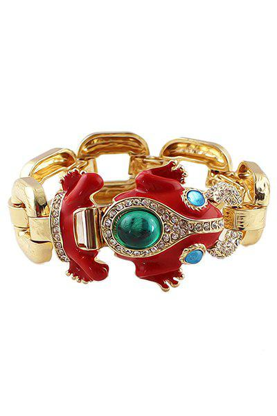 Frog Shape Faux Gemstone Bracelet