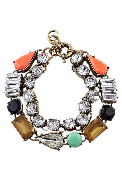 Artificial Stone Decorated Bracelet - COLORMIX