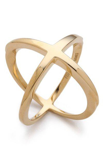Solid Color Cross Ring - GOLDEN ONE-SIZE