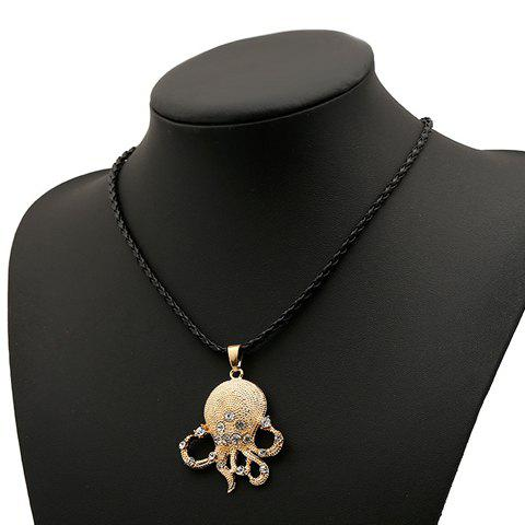 Fashion Classic Women's Rhinestone Octopus Design Necklace - AS THE PICTURE