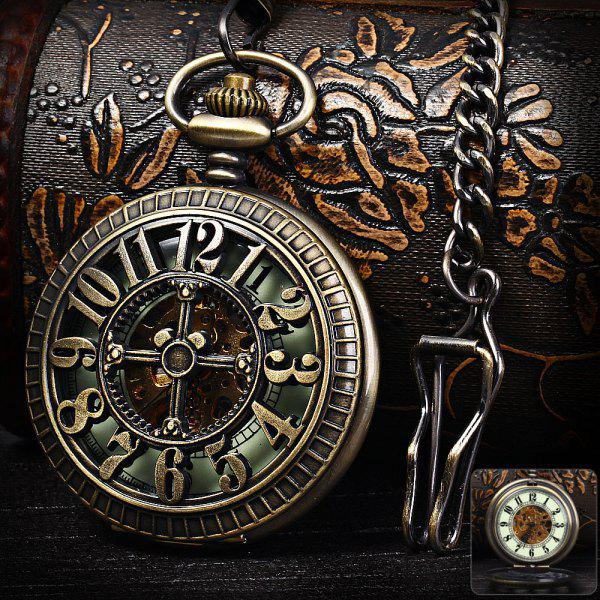 flip mechanical pocket watches hollow out style